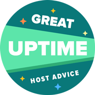 HostAdvice Great Uptime Award for Zircon Host